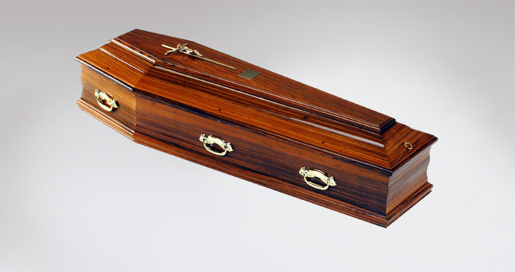 walnut coffin